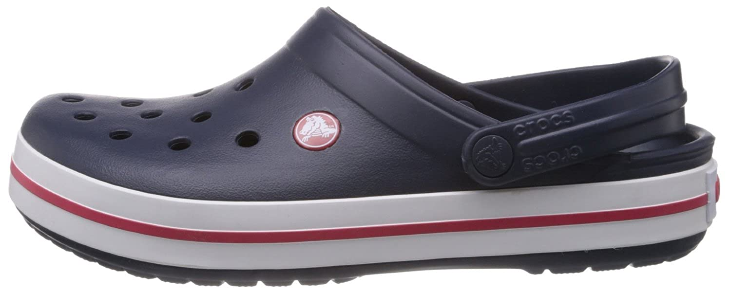 de3ef6f2c8b10c crocs Unisex Crocband Navy Rubber Clogs and Mules - M11  Buy Online at Low  Prices in India - Amazon.in