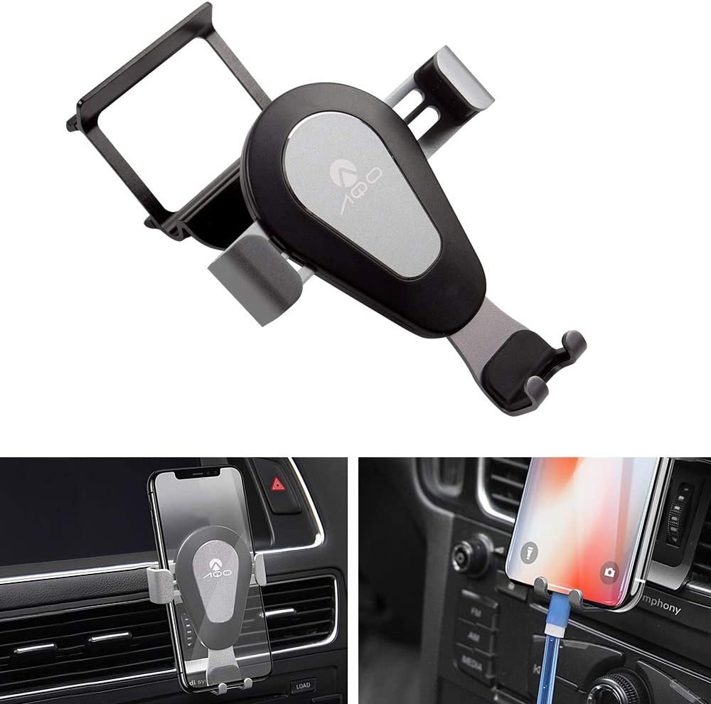 12-18 A6 13-18 S6 12-18 A7 【Black】 Smartphone Cell Phone Mount Holder,Adjustable Air Vent Cell Phone Holder,with Adjustable Air Vent Clip Cover for Audi A3A4A5A6A7Q5S3S4S5S6