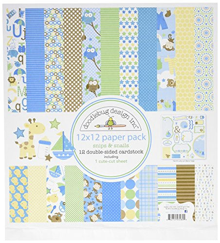 DOODLEBUG Snips and Snails Paper Pack, 12 by ()