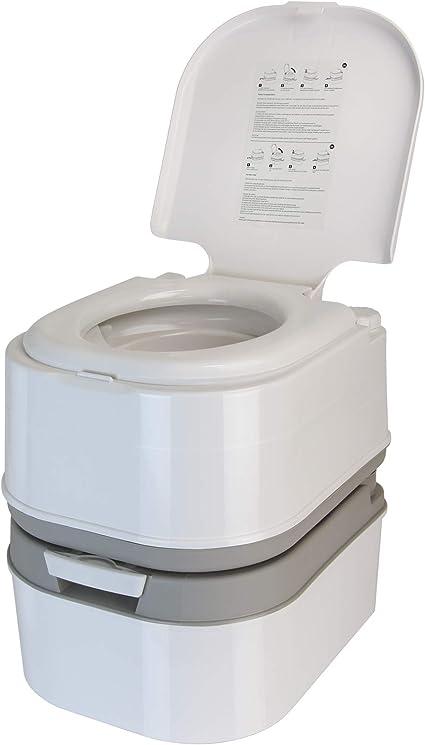 BB Sport Inodoro de Camping portátil WC químico de 24 L con Bomba de pistones y portarrollos para Papel higiénico, Altura de Asiento de 44 cm