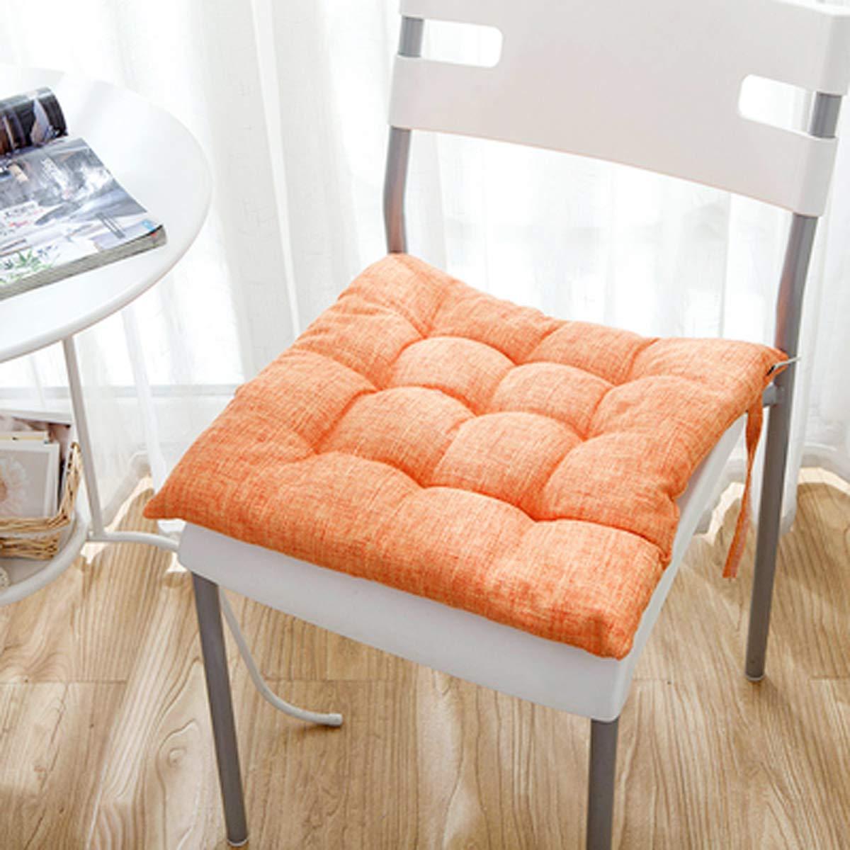 Q&F Nordic Cojines para sillas de Cocina Cuadrado Color sólido Patio ...