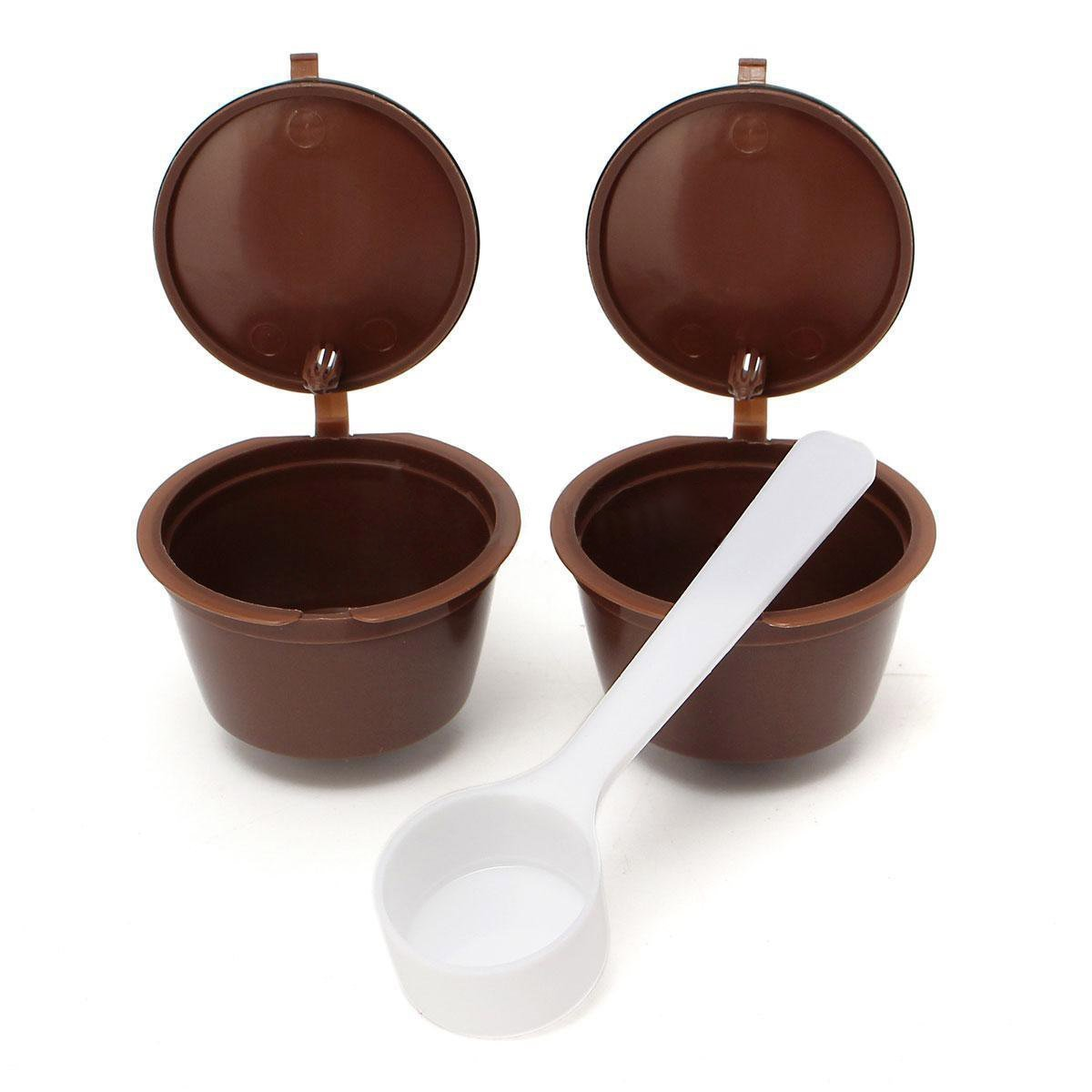Coffee filter cup - TOOGOO(R) 2 x Reusable Coffee filter cup for DOLCE GUSTO Machines SHOMAGT17749