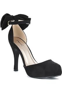 0afba5a9954 Hadari Women s Ankle Strap High Heel Platform Pump Shoes