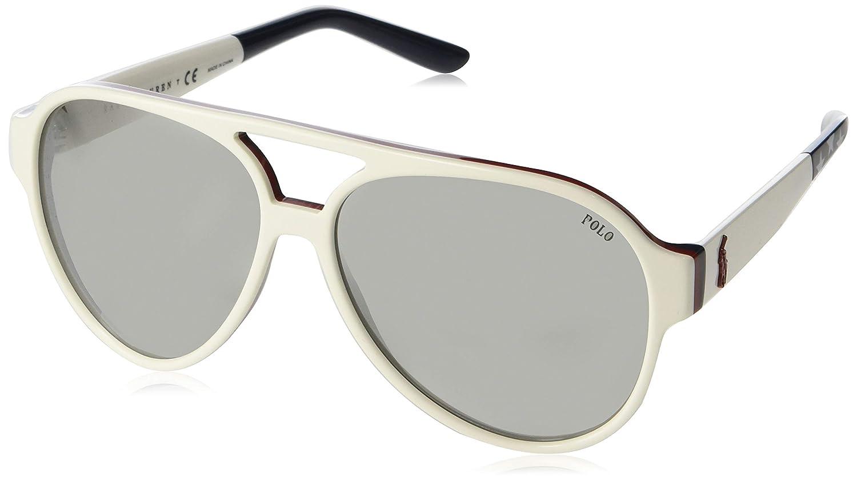Amazon.com: Gafas de sol Polo PH 4130 57406G Blanco: Shoes