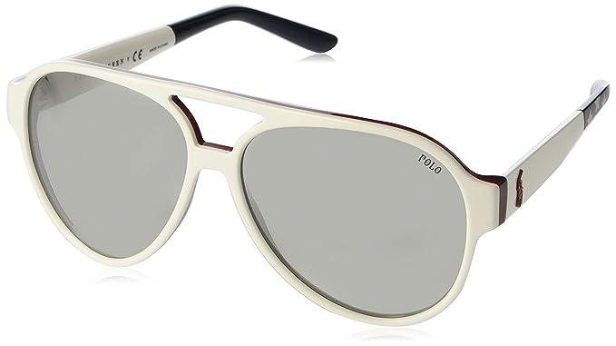 Polo 0PH4130 Gafas de sol, Aviador, 61, White: Amazon.es ...