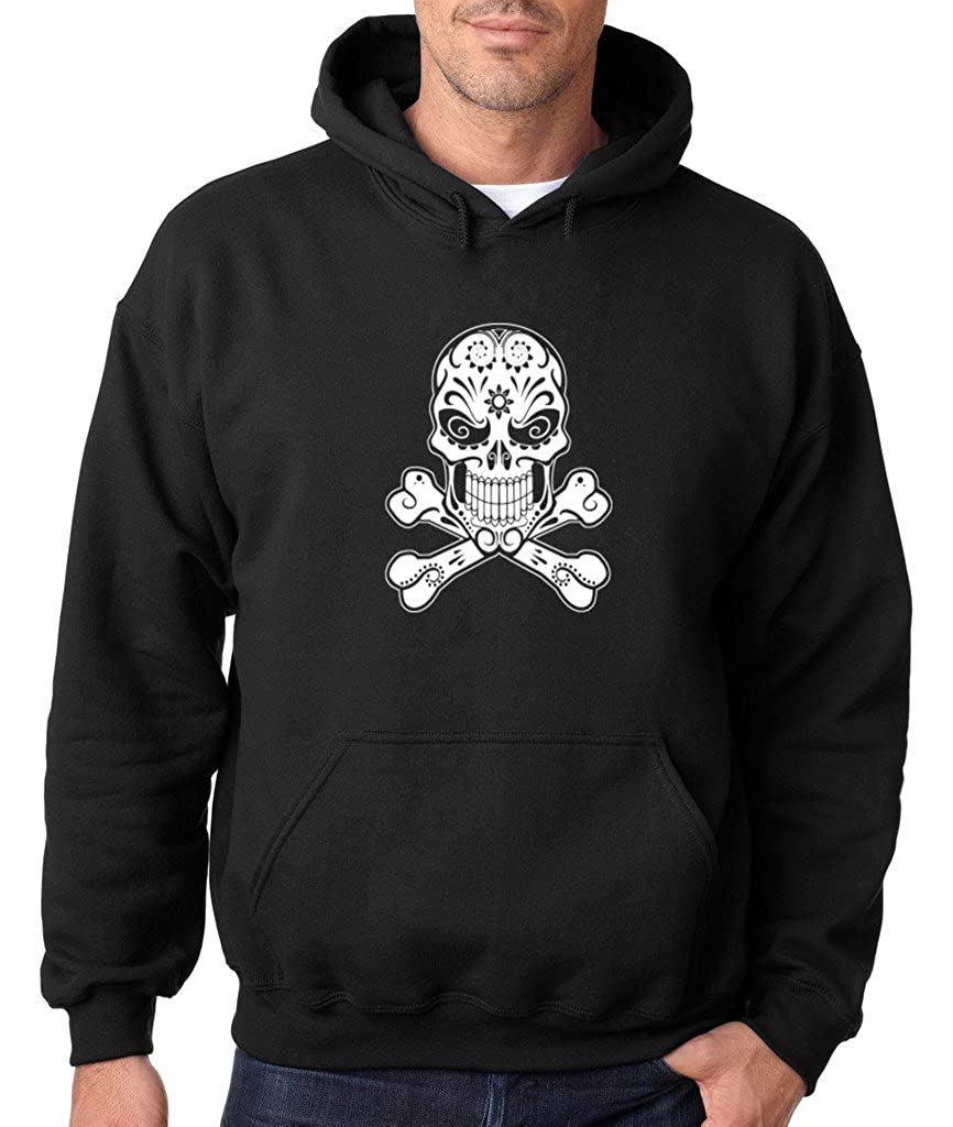 VISHTEA Day of Dead Skull Crossbones Hoodie Pirate Flag Sweatshirt