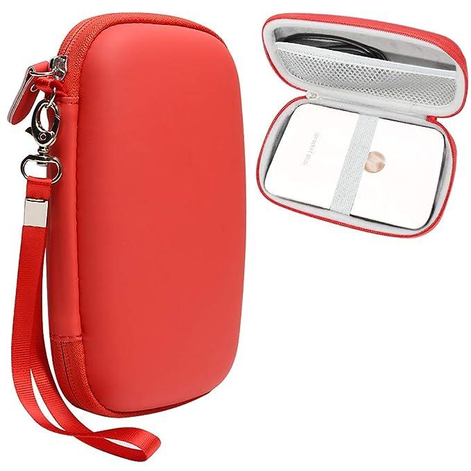 Rojo Funda Protectora para HP Impresora fotográfica portátil piñón ...