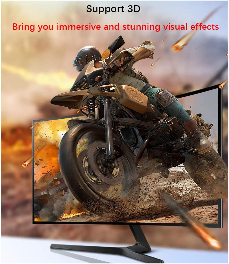 2K@165Hz 3D Gaming Graphics Card HDTV DP to DP Cable for 144Hz Gaming Monitor Display Compatible with FreeSync and G-Sync Silkland DisplayPort Cable 1.2//6ft Support 4K@60Hz 2K@144Hz