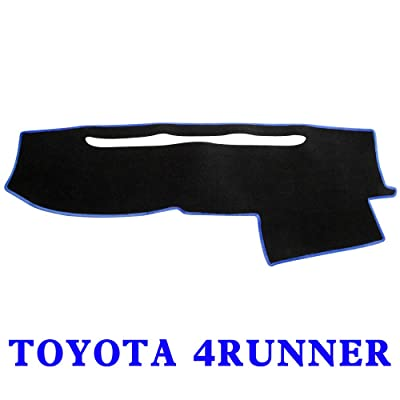 JIAKANUO Car Dashboard Dash Board Cover Mat Fit for Toyota 4RUNNER 2003 2004 2005 2006 2007 2008 2009(Black-Blue, MR-017): Automotive [5Bkhe2002982]