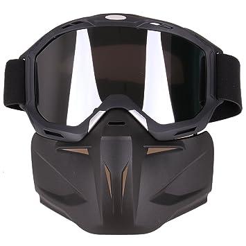 Lommer Máscara táctica, máscara simple Airsoft CS máscara táctica máscara cara completa de seguridad gafas