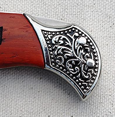 Customized Rosewood Handle Pocket Folding Knife with 2 Lines of Engraving - Wedding Groomsmen Gift - Personalized Monogrammed and Engraved for Free