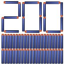 AMOSTING Foam Bullets Refill Dart Pack for N-Strike Elite Blasters Nerf Guns Standard Size–200PCS Blue
