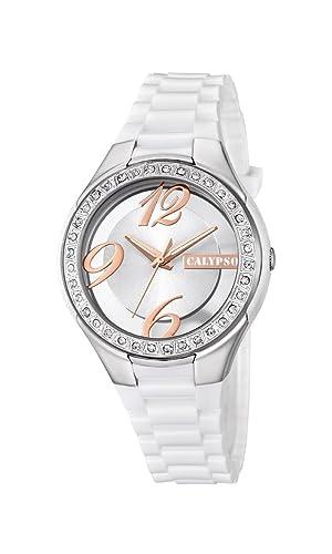 Calypso Reloj Análogo clásico para Mujer de Cuarzo con Correa en Plástico K5679/1: Amazon.es: Relojes