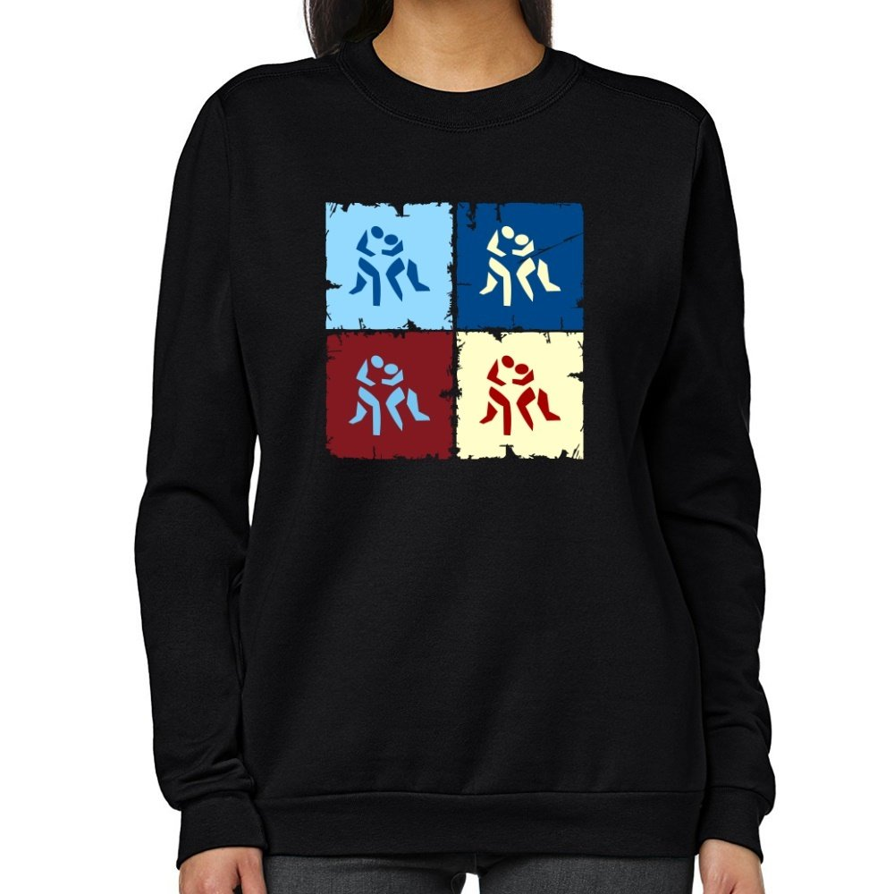Teeburon Wrestling Pop art Women Sweatshirt