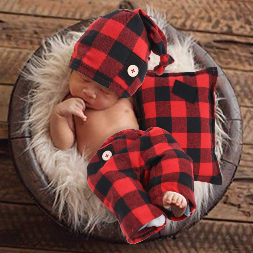 Newborn Boy Photography Outfits Buffalo Cotton Baby Clothes for Photography,Newborn Party Costume, Baby Photo Prop