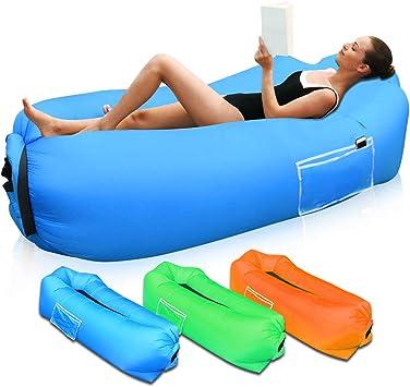 SUPTEMPO Sofá inflable portátil, para exteriores, impermeable, para camping, jardín, playa