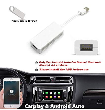 Amazon com: USB Carplay Dongle Android Auto Navigation Car