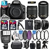 Holiday Saving Bundle for D3300 DSLR Camera + 18-55mm VR Lens + 55-200mm VR II Lens + 0.43X Wide Angle Lens + 2.2x Telephoto Lens + Flash + 2 Of 4PC Macro - International Version