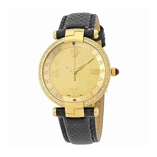 Versace Revive oro espejo Dial cuero damas reloj vai210016: Amazon.es: Relojes