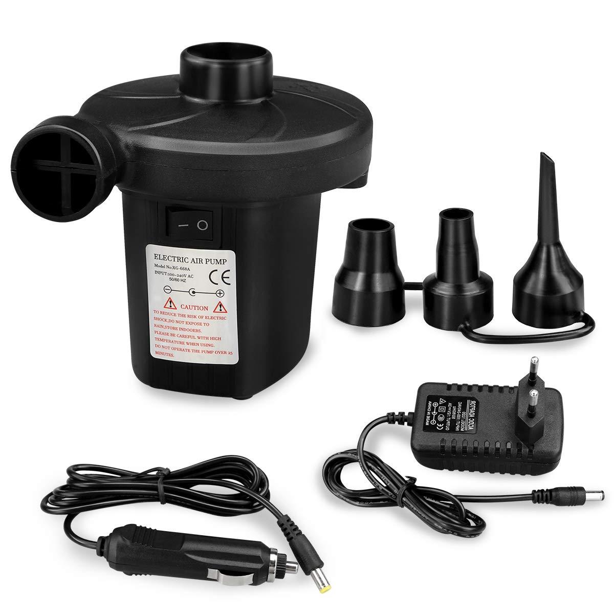 Zaeel Hinchador eléctrico, Bombas de Aire Eléctrica[DC12V/AC240V] Deflación Automática y
