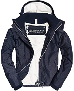 Superdry Mens Arctic Hooded Pop Zip Windcheater Jacket ...