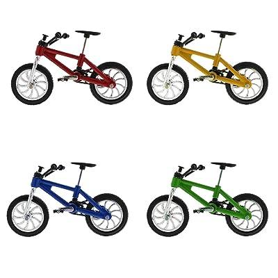 IPOTCH Escala 1:24 Miniaturas Modelo de Bicicleta Diecast de Montaña de Dedo de Aleación para Niño - Multi, 4 Piezas: Juguetes y juegos