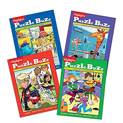 Highlights Puzzle Buzz - Set of 4 Books for Ages 5 to 6: Toys & Games