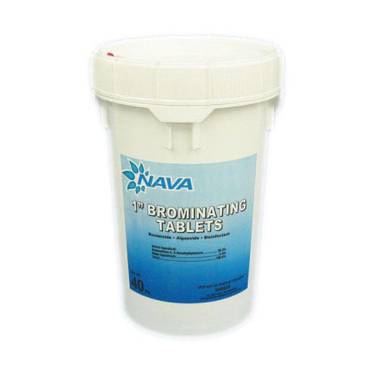 Nava 1'' Brominating Tablets - 40 lb. Bucket by NAVA
