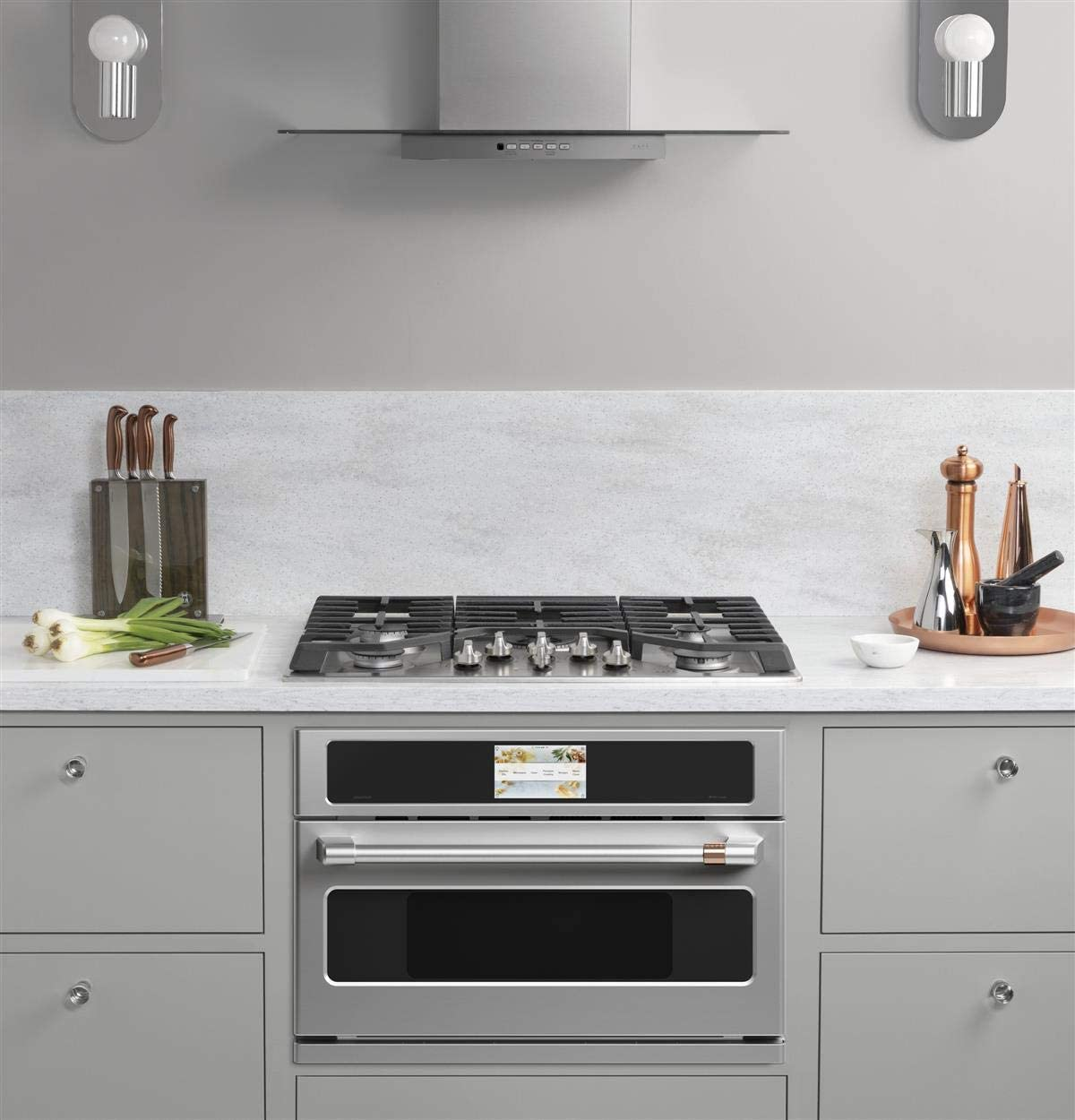CAFE 30in CSB913P2NS1 SMART FIVE IN ONE SINGLE OVEN WITH 120V ...