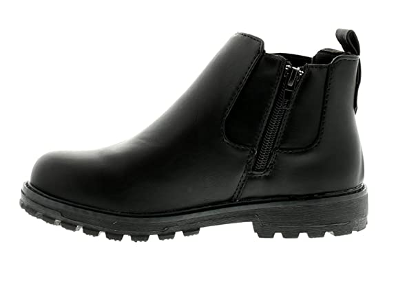 Dinosaur Hunter New Younger Boys/Childrens Black Zip Fastening Ankle Boots  - Black - UK Sizes 7-13: Amazon.co.uk: Shoes & Bags