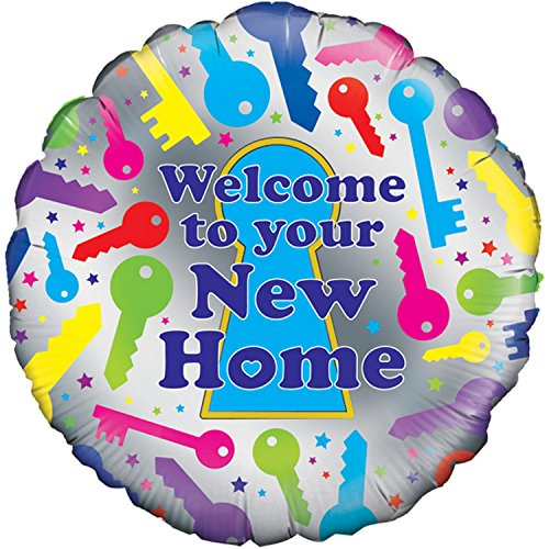 Oaktree 18 Inch Welcome To Your New Home Balloon (One Size) (Multicoloured)
