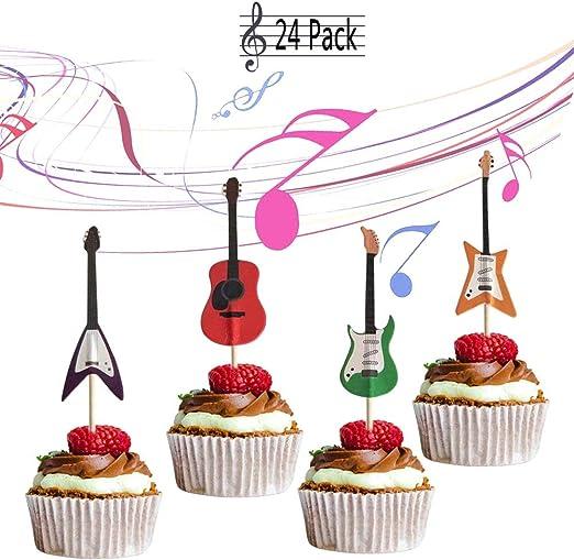 Amazon.com: Yunko - Juego de 24 cupcakes decorativos para ...