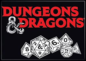 "Ata-Boy Dungeons and Dragons Dice 2.5"" x 3.5"" Magnet for Refrigerators and Lockers"