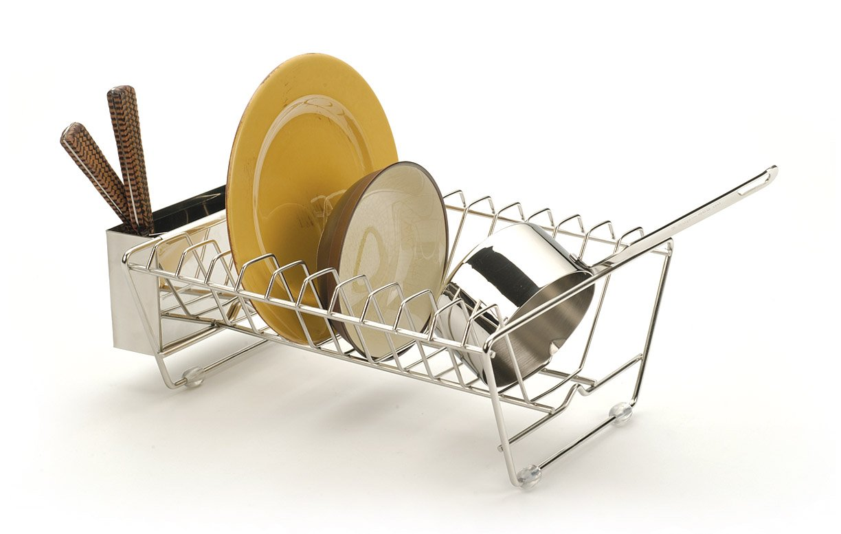Best dish drying rack for small spaces dish drying rack amazoncom rsvp endurance stainless - Dish racks for small spaces set ...