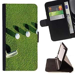 Devil Case- Estilo PU billetera de cuero del soporte del tir¨®n [solapa de cierre] Cubierta FOR Samsung Galaxy G360 G3608 G3606- Golf Ball Sport Tiger