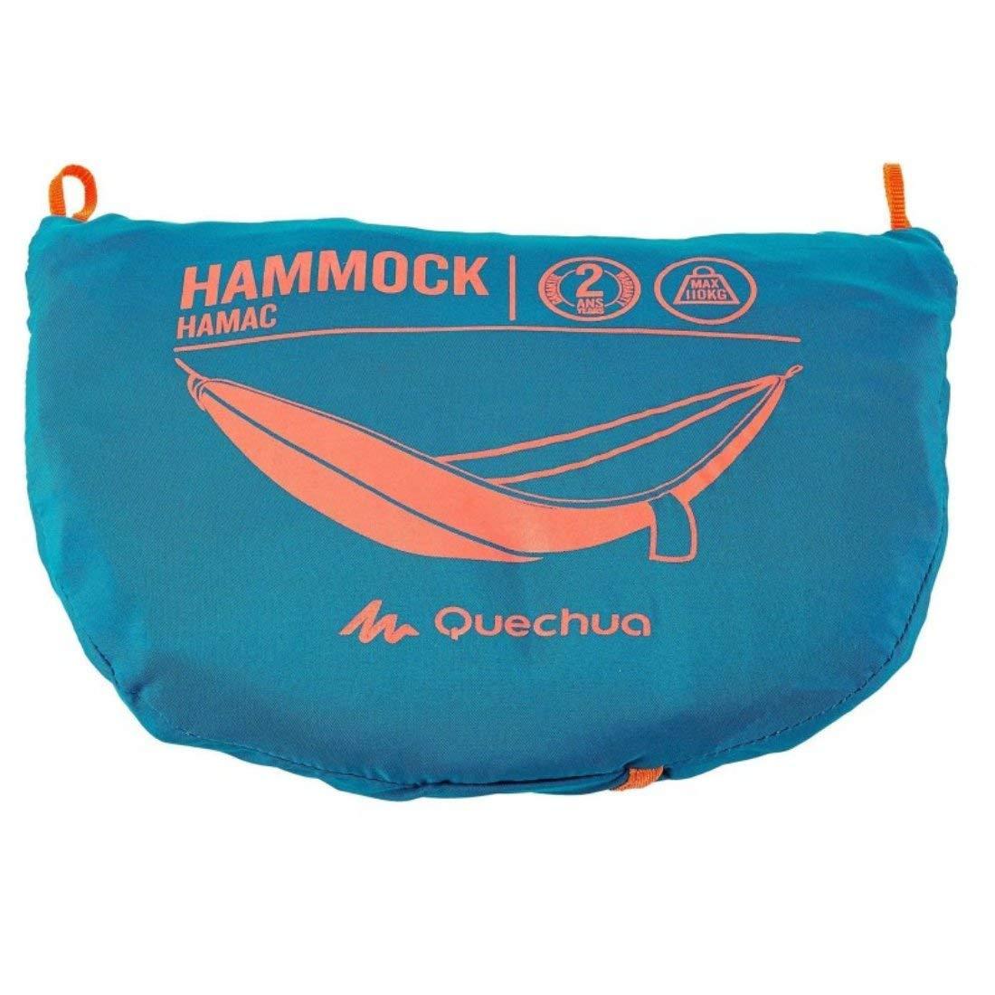 Mit /Ösen und Seilen Camping-H/ängematte blau 415 g QUECHUA Volumen: 2,4 l mit Transporth/ülle