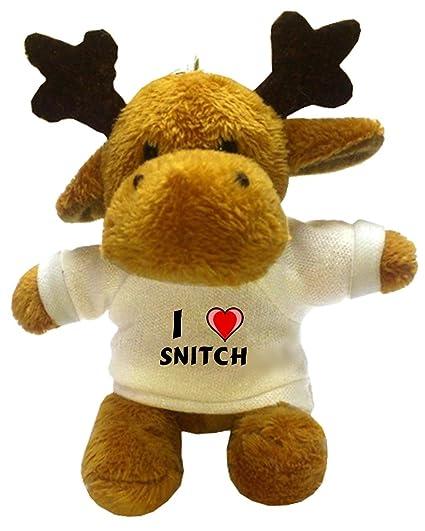 Reno de peluche (llavero) con Amo Snitch en la camiseta ...
