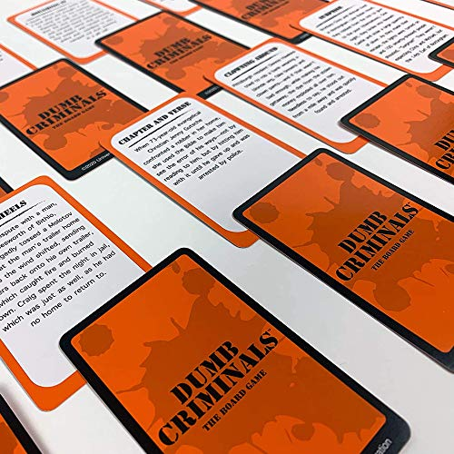 University Games Dumb Criminals Board Game, The Hilarious Party Game of True or False for 2 to 4 Players Ages 12 and Up, Perfect for Game Night