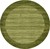 Cheap Unique Loom Del Mar Collection Contemporary Transitional Light Green Round Rug (8′ x 8′)