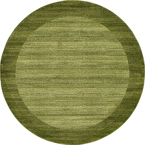 Unique Loom Del Mar Collection Contemporary Transitional Light Green Round Rug (8' 0 x 8' 0)