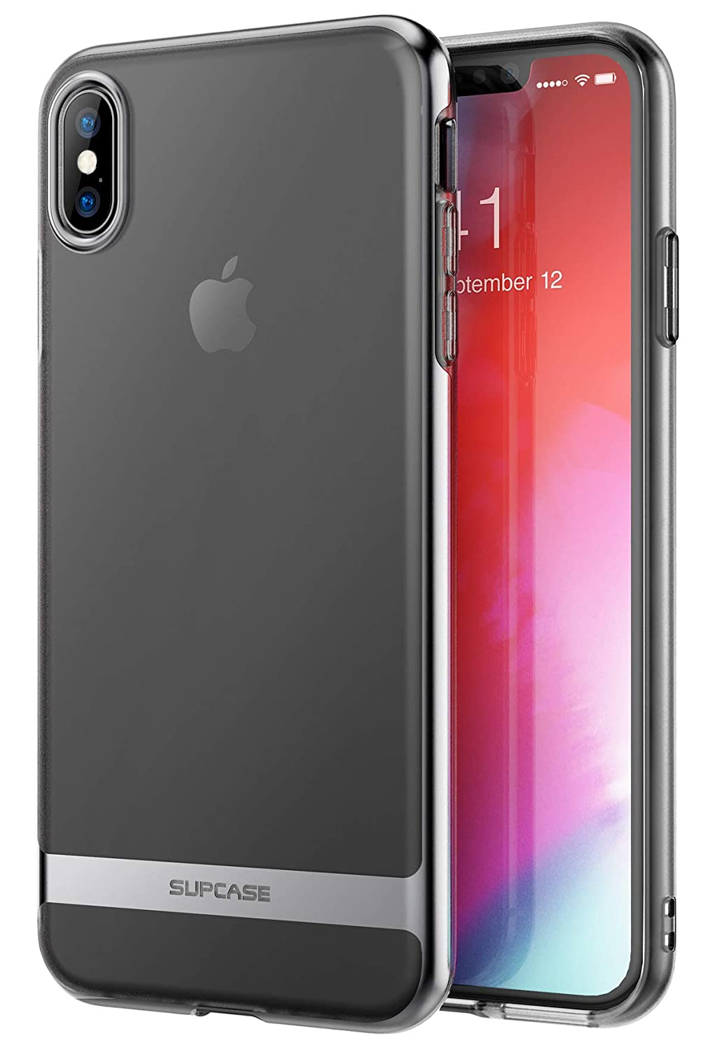 SUPCASE Unicorn Beetle Metro Series Slim Soft TPU Clear Cover Case for Apple iPhone X 2017/ iPhone Xs 2018 (Black)