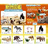 Earth whole! Spread Animal Book! African colleagues diorama Candy Re-Ment (all eight Furukonpu set)