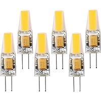 GOODLAND de nuevo Mini LED G4lamp-2W DC/AC 12V- G4luz LED COB foco reemplazar luces halógenas (paquete de 6, blanco suave -2700K)