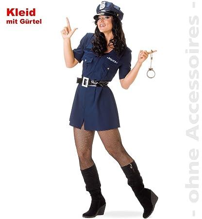Damen Kostüm Polizistin als Polizei verkleiden zu Fasching Karneval
