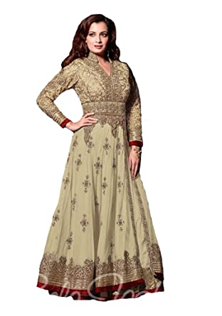 Amazon.com: Ethnicmode Designer Anarkali Gown For Women,Readymade ...