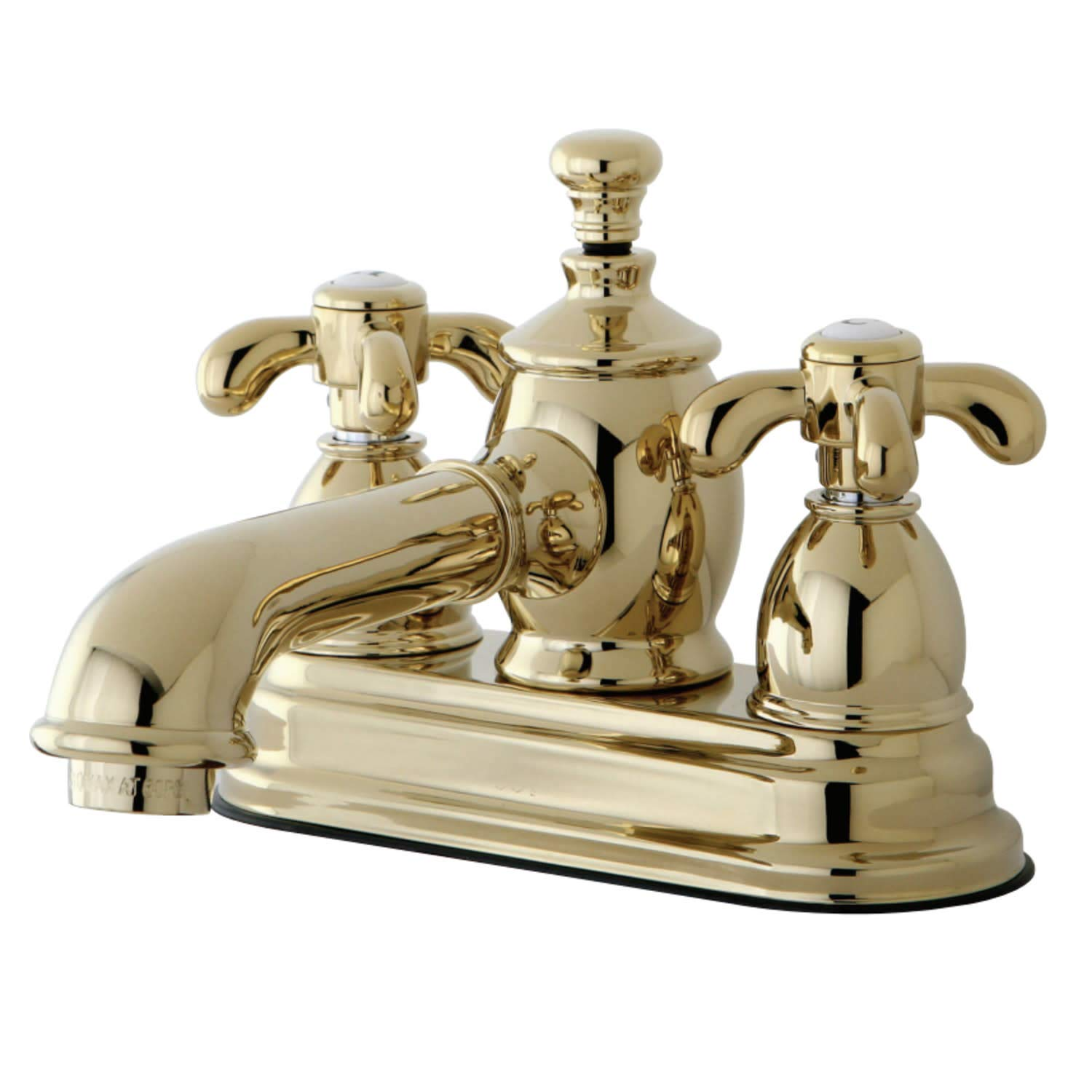 Kingston Brass KS7001TX French Country 4-Inch Centerset Lavatory Faucet with Brass Pop-Up 4-1//2 Polished Chrome