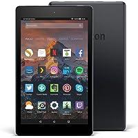 Tablet Fire HD 8, pantalla de 8'' (20,3 cm), 32 GB (Negro) - Incluye ofertas especiales (7ª generación - modelo de 2017)