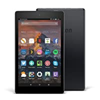 Tablet Fire HD 8, pantalla de 8'' (20,3 cm), 16 GB (Negro) - Incluye ofertas especiales