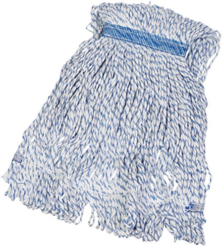 (AmazonBasics Loop-End Rayon Finish Commercial String Mop Head, 1.25 Inch Headband, Small, 6-Pack)