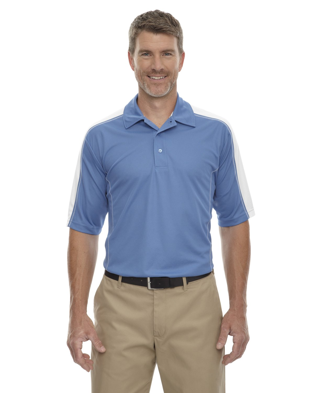 Extreme Eperformance Men's Piqué Colorblock Polo, 4XL, Lake Blue 800 by Ash City - Extreme